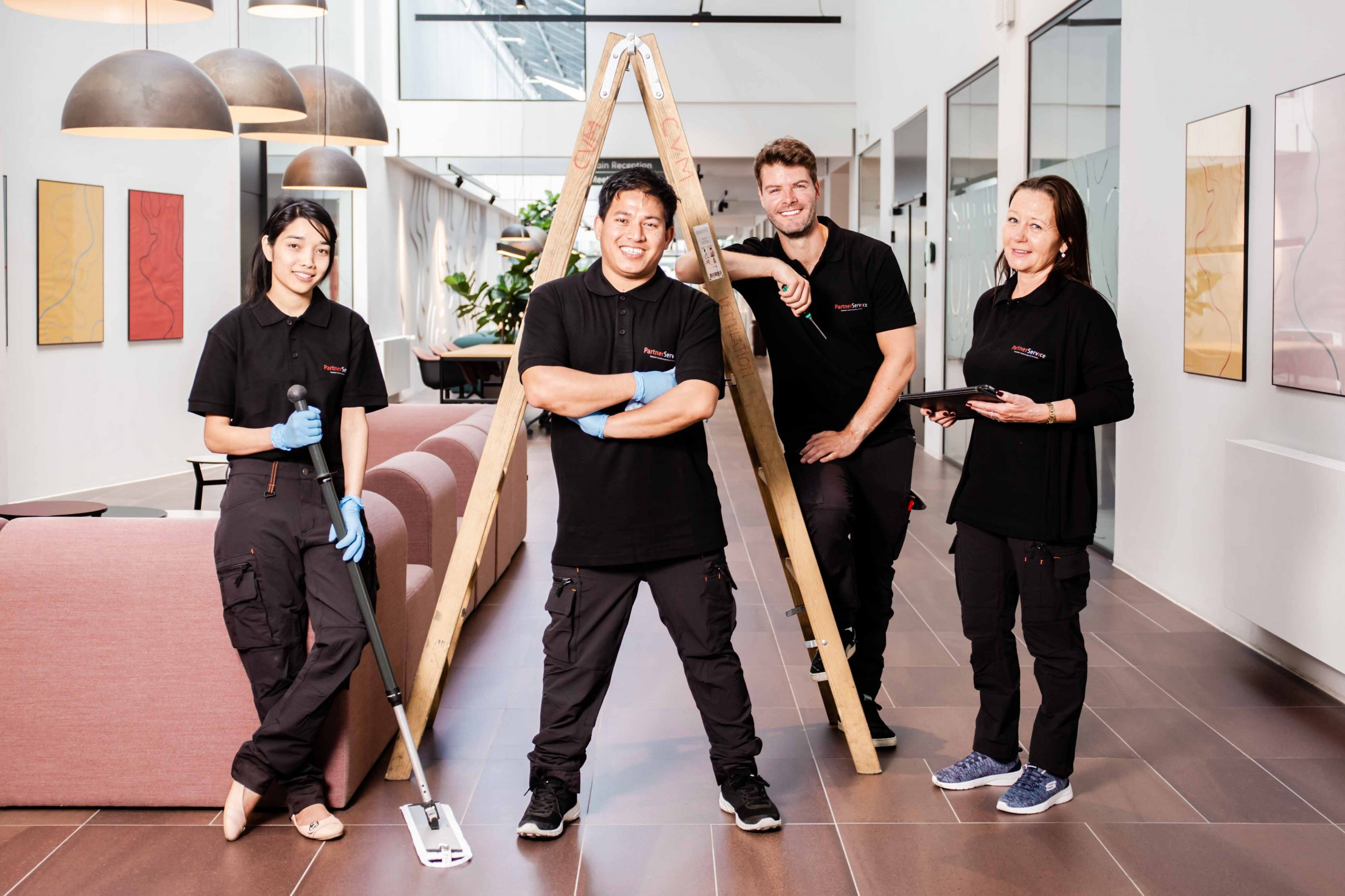 PartnerService er en landsdækkende rengøringsvirksomhed.