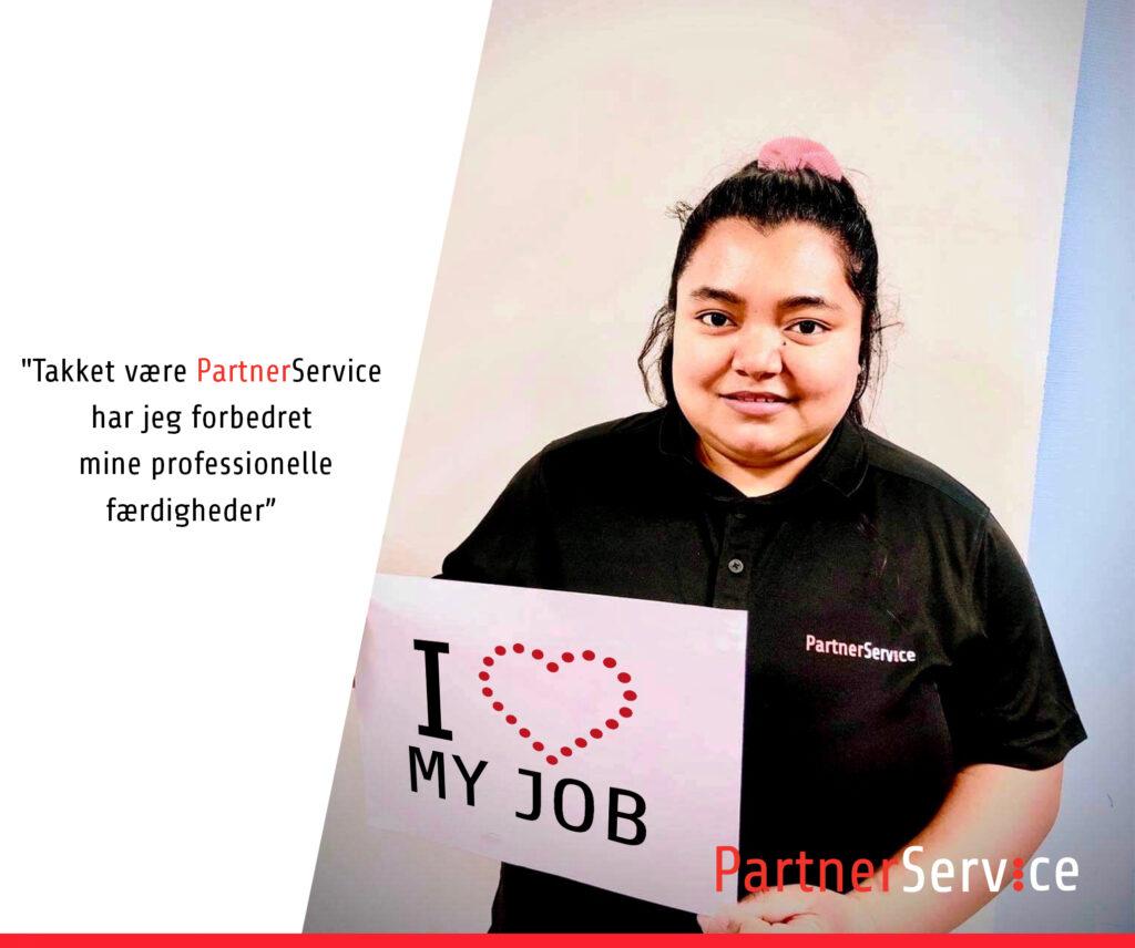 Takket være PartnerService har jeg forbedret mine professionelle færdigheder